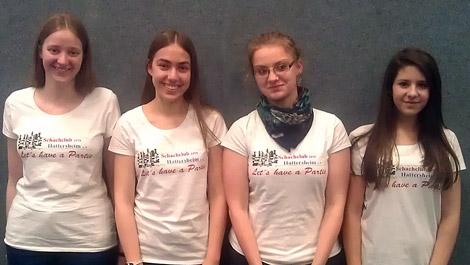 Unser Team in Naumburg: Anna Rosmanitz, Tabea Wilke, Laura Neisius und Nina Goldhausen.